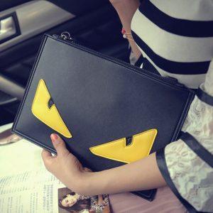 2016 Women Monster Bags Designer Clutch Bag Fashion Ladies Messenger Bag Shoulder Satchel Envelope Novelty Middle Eyes Handbags