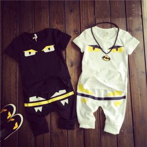 2016 nova kids clothes monster design baby boys clothing set solid t shirt+pants casual 2 color suit 2-7T roupas infantis menina