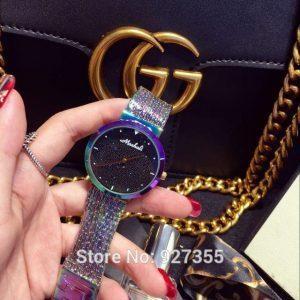 2017 New Arrival Women Watch!Luxury  Fashion Crystal Women Bracelet Watch Female Dress Watch Ladies Rhinestone Wristwatches