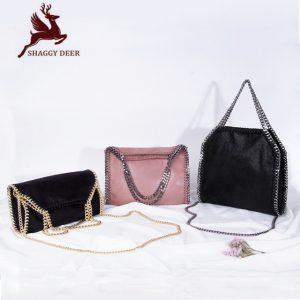2017 SHAGGY DEER Star Fashion Chain Bag European Luxury PVC 3 Chain Crossbody Shoulder Portable Handbag