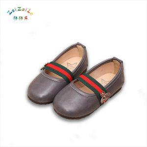 2018 Korean version of the fall cute girl shoes children princess shoes soft shoes baby shoes a pedal leather shoes
