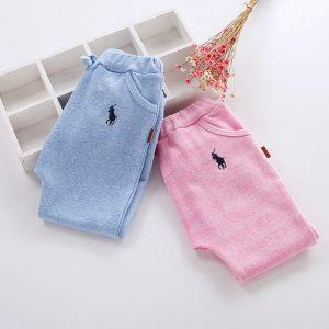 2018 New Arrival Children Harem Pants Clothing Casual Summer Baby Boy Girl Clothes Solid Embroidery Kid Pure Cotton trousers