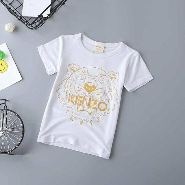 2018 New Arrival Children T Shirts Summer Boys Girl Clothing Cotton