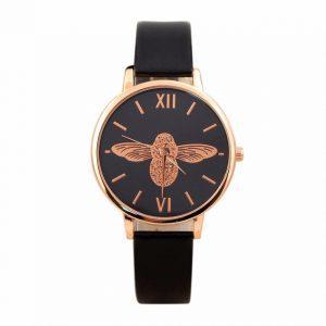 2018 Relogio Feminino Fashion Watch Women Luxury Brand With Leather Clock Elegant Ladies Watch Printing Bee Wristwatch Gift