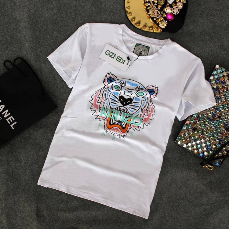 20522ca8 2018 Summer European Style Brand T Shirt Men Women Tiger Head Letter Print  T-Shirt