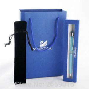 2018 Wedding Gift swarovski Pen with brand retail box case gift handbag velvetpouch swarovski elements crystal pen Free Shipping