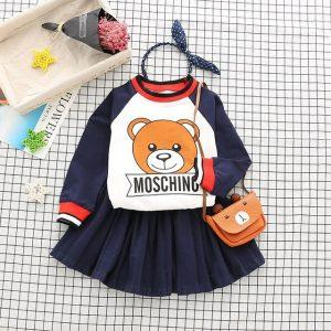 2Pcs Children's clothing autumn new and children's suits skirt skirt children's sweater pants casual two-piece suit
