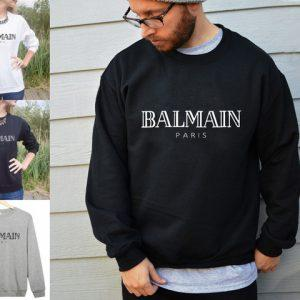 ASIAN SZ Name BALMAIN City PARIS Sweatshirt Letter Print Fashion Women Men Cotton Casual Couple Funny Sweatshirts Basic Vintage