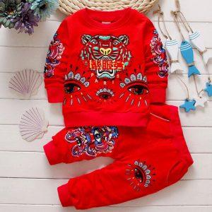 Baby Boy Clothes 2018 Spring Fall Cartoon Long Sleeved Tops T-shirts Pants 2PCS Outfits Kids Bebes Tracksuits Jogging Suits New