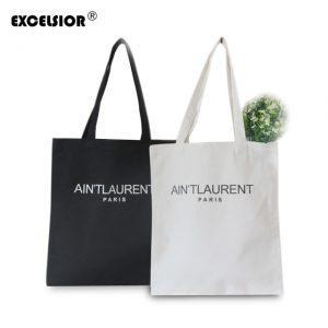 EXCELSIOR Women's Canvas Casual Shopping Bag Large Capecity Tote Foldable Handbags Single Shoulder Beach Bags Bolsas Femininas