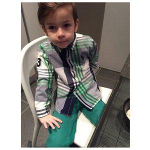 Free shipping boys plaid shirt good new arrival spring summer cotton children's shirts boy gentleman