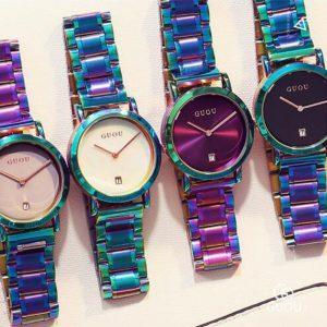 GUOU Watch Women Fashion Colorful Stainless Steel Ladies Watch Luxury Exquisite Women's Watches reloj mujer relogio feminino
