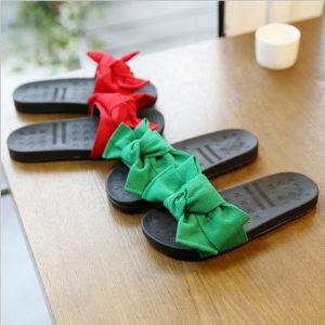Girls Slippers Fashion Design Casual Beach Slippers Kids Shoes Sandal Summer Princess Bow Knot Children Slippers