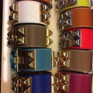 High Quality Genuine Leather Bracelet Fashion Famous Brand Bangle Women Stainless Steel Jewelry for female party gifts