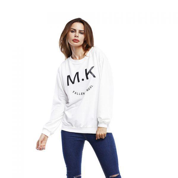 Hoodies Female Leisure Loose Coat Autumn Winter Sweatshirt Women Hoodie Casual Long Sleeved Letter Printing Woman Pullover Tops