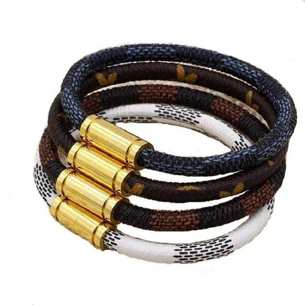 Hot Sale New Fashion Luxury Brand Jewelry 316L Stainless Steel Bracelets Bangles pulseiras Leather Bracelets For Women/Men