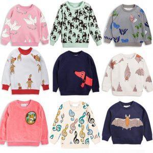 KIDS Clothing Set 2018 Spring Autumn bobo choses fox leopard boys sweatshirt Tee top girls pant trouser girls dress vestidos