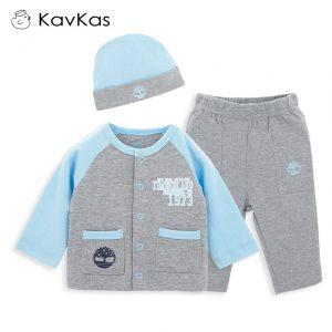 Kavkas 3pcs/Set Newborn Baby Boy Clothes Set Christmas Autumn Winter Infant Kids Boy Clothing Set Coat+Hat+Pants