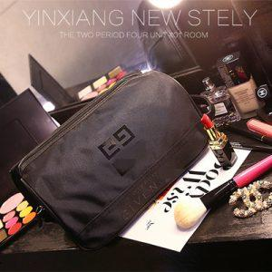 Large-capacity black cosmetic bag waterproof cosmetic bag wash bag Cosmetic Pouch Storage bag