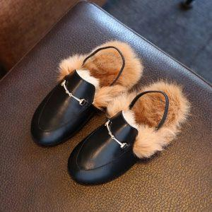 New 2017 Spring Hot Selling Fashion boys or Girls Slippers Rabbit Hair Parent-child Plush Shoes