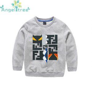 New 2018 Boys Sweater Printing Letter Baby Pullover T-Shirt Spring&Autumn Children Clothing Kids Cotton Casual Clothes JSB408