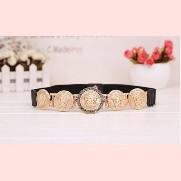 New Brand Belts For Women New Fashion Beauty Head Elastic Belt Vintage Lady Elastic Designer Waistband Strap Luxury Ceinture