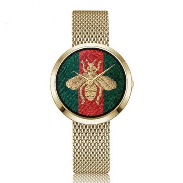 New Fashion Lady Brand Little Bee Watch Women Stainless Steel Band Bracelet Watch Quartz Casaul Gold Bee Watch Hot drop shipping