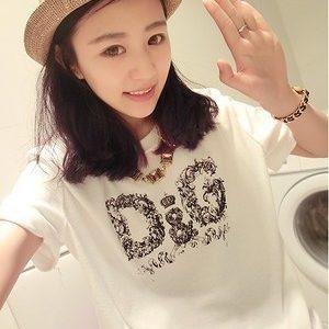 Summer Korea Style Short Sleeve Clothing O-Neck Casual T shirt for women Elegant Tee Shirt for summer new fashion women t shirt