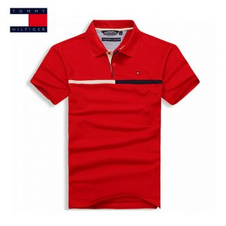 c0d386be516 TOMMY HILFIGER Mens Fashion Polo Shirts 7 Color Brand Clothing For Man s  Wear Short Sleeve Slim Fit Tops