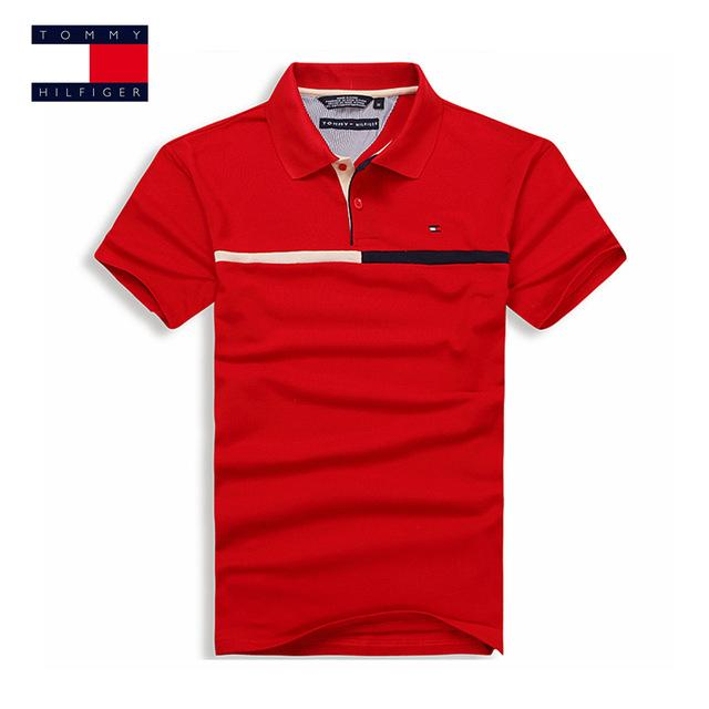 5b053a40 TOMMY HILFIGER Mens Fashion Polo Shirts 7 Color Brand Clothing For Man's  Wear Short Sleeve Slim