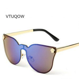 VTUQOW High Quality Women Men Brand Fashion Sunglasses Luxury Sun Glasses For Women Female Sunglass Shaded Lens Oculos De Sol