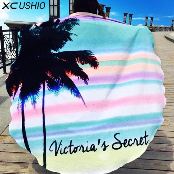 XC USHIO New Style 160cm Hawaii Round Beach Towel Wall Tapestry Desk Decoration Bedspread Blanket Toalla De Playa Strandtuch