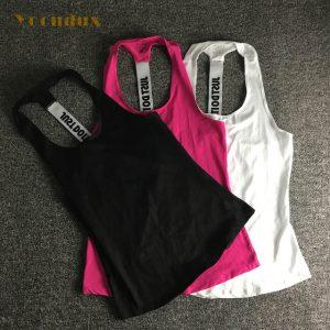 Yocndux Professional yoga vest sleeveless solid color loose Quick Drying running Gym sport yoga shirt women fitness tank top