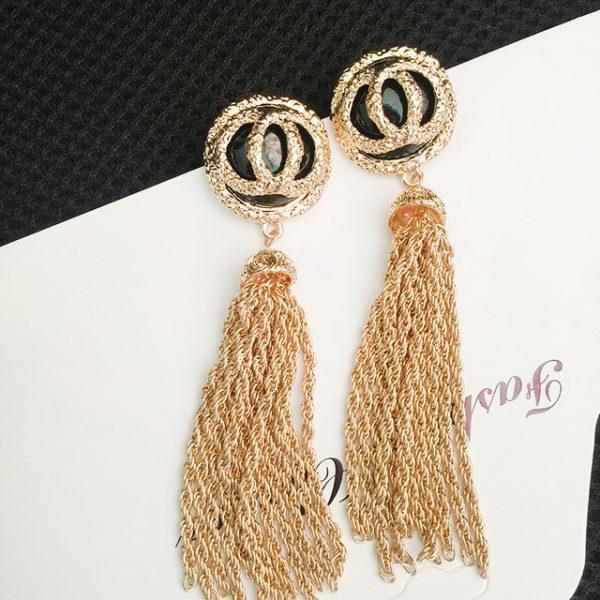 double  long Tassel earrings drop pearl earrings boucles d'oreilles pendantes boho jewelry dangle earrings brinco longo oorbelle
