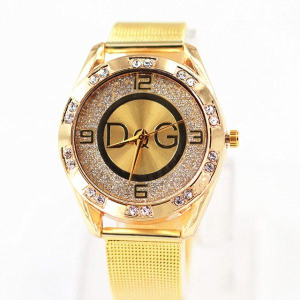 fashion casual watch golden Top Brand Luxury Stainless Steel Watch relojes mujer relogio feminino hombre DQG wristwatch