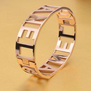 fashion rose gold color bangel for women