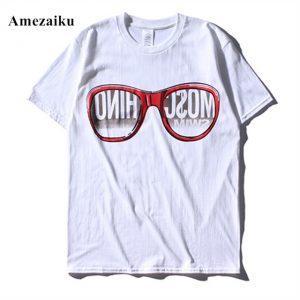 t shirt men brand clothing summer solid t-shirt male casual tshirt fashion mens short sleeve plus size XL glasses printing
