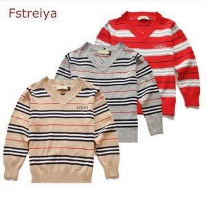 100%cotton baby boys sweaters girls o-neck pullovers kids christmas sweaters Children's round neck trui jongens girls clothes