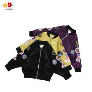 AD Cool Patchwork Boys Girls Jacket for Spring Autumn Quality Delicate Kids Coat Outwear Children's Clothing Shinning Fabric