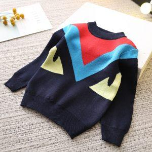 Boys and Girls Cartoon Sweaters 2017 Autumn Winter New Children Knitting Clothes Baby Casual Cotton Knit Wear Pullover Tops 3-8Y
