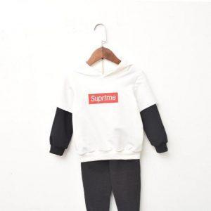 Mizi Terjojo Baby Boys Girls Sweatshirts Fashion Letter Pattern Kids Hooded Long Sleeve Shirt New 2018 Korean Children Clothing