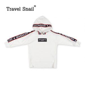Travel snail 4-9 yrs baby boys t-shirts for kids tshirts children pullover kids long sleeve tops boys hoodies 2018 Spring New