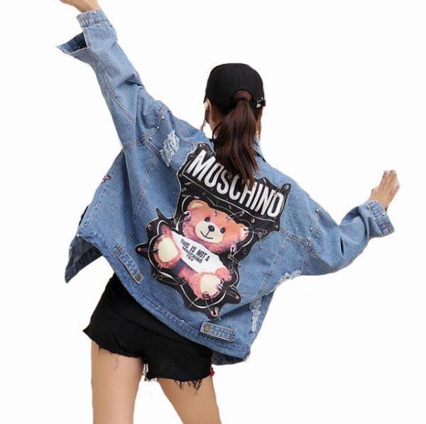 Moschino bear denim jacket