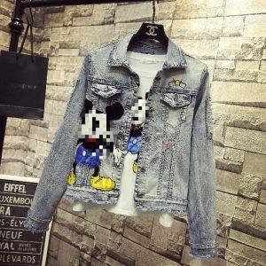Disney inspired Fashion Mickey Denim jacket and t-shirt