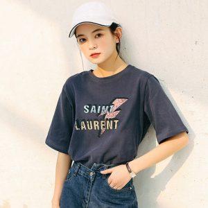 Saint Laurent style t-shirt