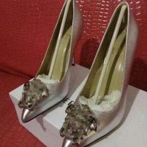 Versace style high heels