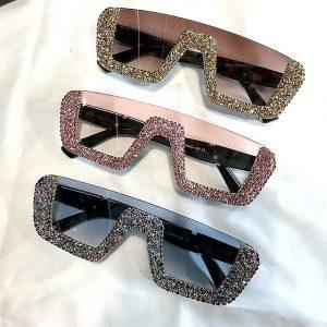 Luxury Oversized Rhinestone Sunglasses
